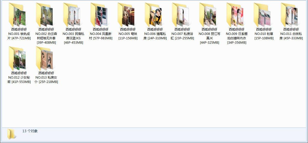 【COS】西呱呀呀呀 写真13套合集 【451P5.06G】【秒传】