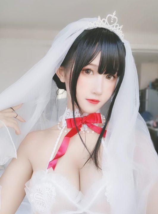 COS@三度69 婚纱孔雀翎+白丝芭蕾+蓝睡裙 【图包】