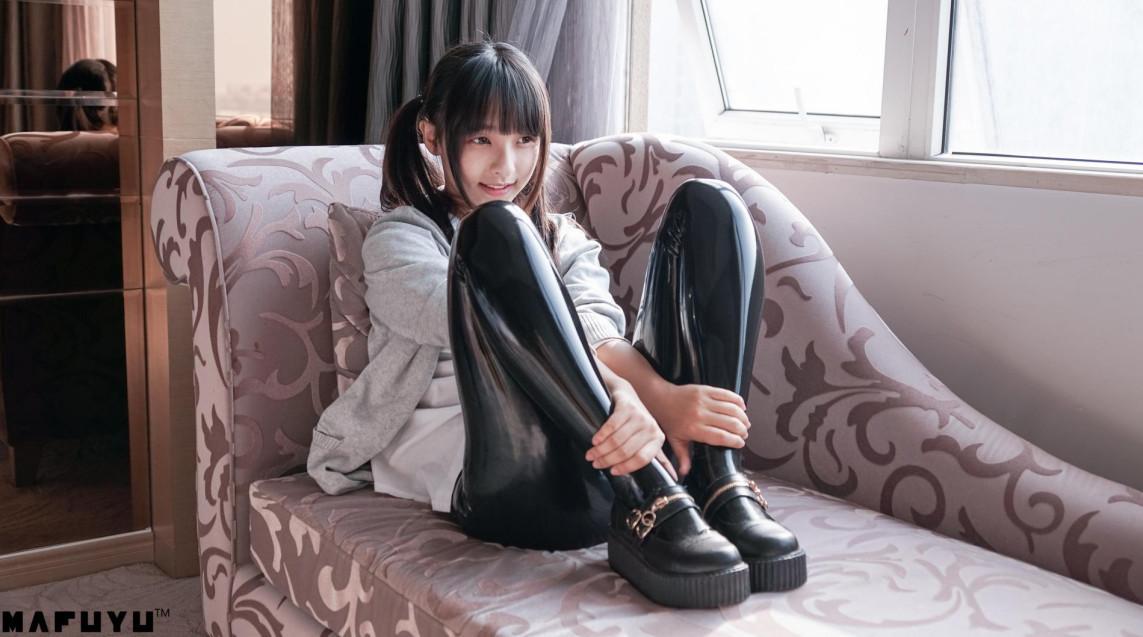 写真@神乐坂真冬MAFUYU系列 – 黑色皮裤系列 【169P1V 2.99G】